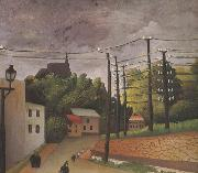 Henri Rousseau View of Malakoff oil painting artist