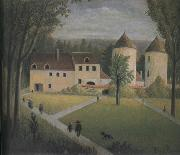 Henri Rousseau The Promenade to the Manor oil painting artist