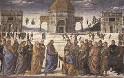 Christ Giving the Keys to Saint Peter, Pietro Perugino