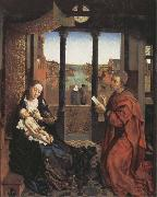 Roger Van Der Weyden Saint Luke Drawing the Virgin and Child oil painting