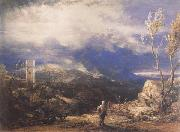 Christian Descending into the Valley of Humiliation, Samuel Palmer