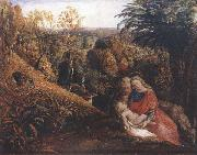 Rest on the Flight into Egypt or Holy Family, Samuel Palmer