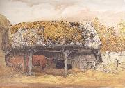 A Cow-Lodge with a Mossy Roof, Samuel Palmer
