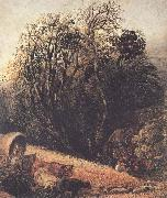 A Cornfield Bordered by Trees, Samuel Palmer