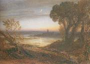The Curfew  or The Wide Water d Shore, Samuel Palmer