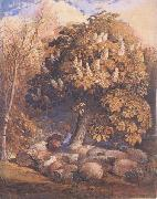 Pastoral with a Horse Chestnut Tree, Samuel Palmer