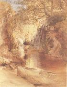 A Cascade in Shadow,Drawn on the Spot,near the Function of the Machno and Conway,North Wales, Samuel Palmer