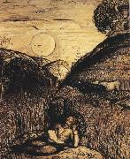 Samuel Palmer The Valley Thick with Corn oil painting