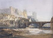Samuel Prout Part of Durham Bridge (mk47) oil painting