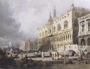 Samuel Prout The Doge s Palace and the Grand Canal,Venice (mk47) oil painting