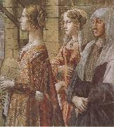 Domenico Ghirlandaio stories of St john the Baptist the Visitation, Sandro Botticelli