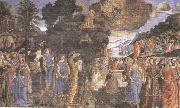 Cosimo Rosselli and Assistants,Moses receiving the Tablets of the Law and Worship of the Golden Calf