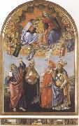 Coronation of the Virgin,with Sts john the Evangelist,Augustine,Jerome and Eligius or San Marco Altarpiece