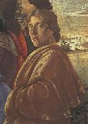 Detail from the Adoraton of the Magi, Sandro Botticelli