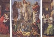Transfiguration,with St Jerome(at left) and St Augustine(at right), Sandro Botticelli