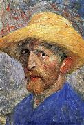 Self-Portrait in a Straw Hat, Vincent Van Gogh