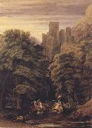 William Turner of Oxford A Scene in the vicinity of a Baronial Residence in the reign of Stephen (mk47) oil painting
