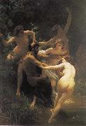 The god of the forest with their fairy, Adolphe William Bouguereau