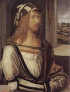 Albrecht Durer self portrait with gloves oil painting reproduction