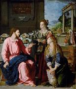 Alessandro Allori Christ with Mary and Martha oil painting