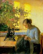 Anna Ancher Syende fiskerpige oil painting reproduction