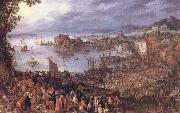 BRUEGHEL, Jan the Elder The Large Fishmarket oil painting on canvas