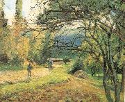 Camille Pissarro Pang plans scenery Schwarz oil painting on canvas