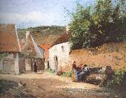 Chat village woman, Camille Pissarro