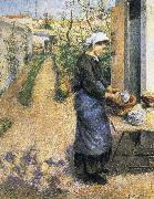 Dish washing woman, Camille Pissarro