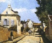 Camille Pissarro Pang Schwarz street map oil painting reproduction