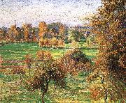 Autumn morning, a large walnut, Camille Pissarro