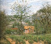 Camille Pissarro Hut villages oil painting reproduction