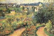Camille Pissarro Lush garden oil painting reproduction