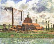 Camille Pissarro Shore plant oil painting on canvas