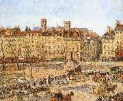 Bank on the afternoon of, Camille Pissarro