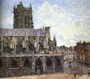 Church under the sun, Camille Pissarro