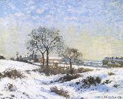 Connaught Kivu area on Snow, Camille Pissarro