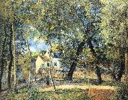 Camille Pissarro Hurrying to the landscape oil painting reproduction