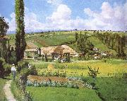 Camille Pissarro Pang plans scenery Schwarz oil painting reproduction