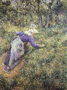 Collect grass, Camille Pissarro