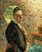 Department of green headscarf woman, Camille Pissarro