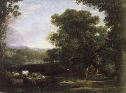 Claude Lorrain cattle farmer and the landscape oil painting reproduction
