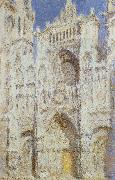 The sun of the main entrance of the Rouen Cathedral, Claude Monet
