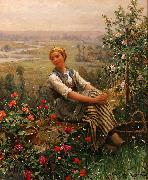 Daniel Ridgeway Knight Dolce Far Niente oil painting reproduction