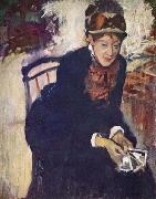 Portrait of Miss Cassatt, Seated, Edgar Degas