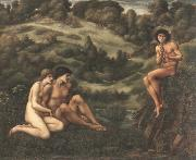 Edward Burne-Jones the garden of pan oil painting artist