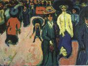 Ernst Ludwig Kirchner Street, Dresden oil painting reproduction