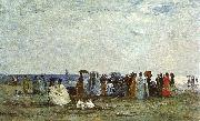 Bathers on the Beach at Trouville, Eugene Boudin