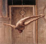 Eugene Jansson ring gymnast no.2 oil painting