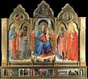 Virgin and child Enthroned with Four Saints